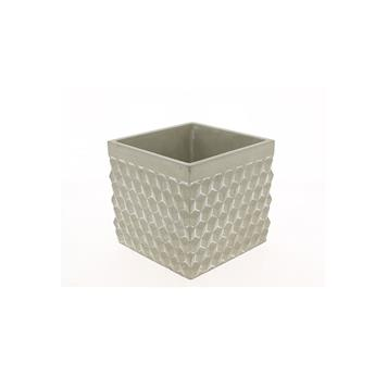C BETON CARRE MADRID D14 H13 NAT MOTIF CUBE RELIEF